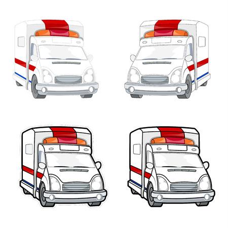 boxcar: Ambulance Vector Set