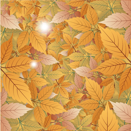 dry leaves: Abstract Vintage Dry Leaves Background Illustration
