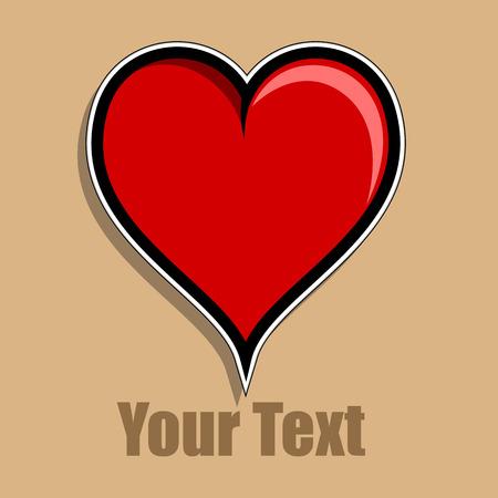 heart clipart: Love Heart Clipart Vector Illustration