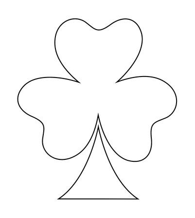 clover leaf shape: Clover Leaf Shape Cartoon