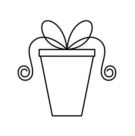 wrap wrapped: Cartoon Gift Box Stroke Clipart