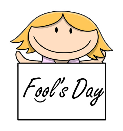 naughty girl: Cute Cartoon Girl Showing Fool\ Illustration