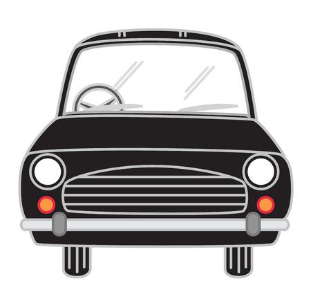 carro caricatura: De dibujos animados Negro Coche del vector