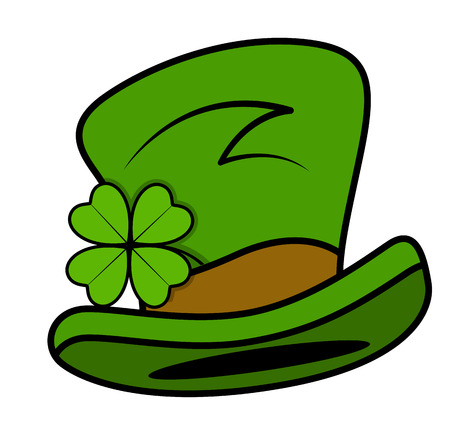 leprechaun hat: Cartoon Leprechaun Hat Vector