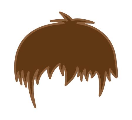 peluca: Peluca de pelo de la historieta del vector Vectores