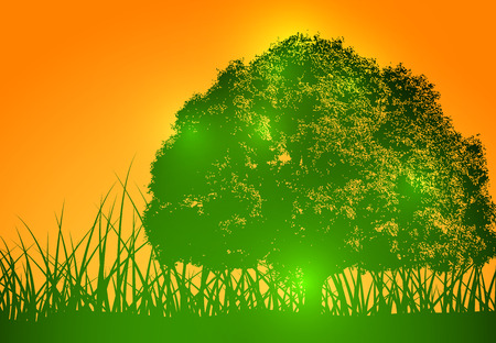 green tree: Green Tree Vector Background