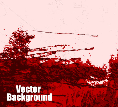 cemented: Dirty Wall Blood Red Background Illustration