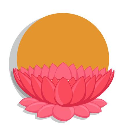 saraswati: Lotus Flower Vector Background Illustration