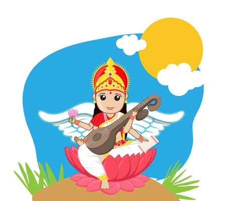 pooja: Indian Goddess of Education - Maa Saraswati