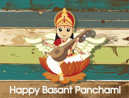 saraswati: Happy Basant Panchami - Hindu God Saraswati Festival