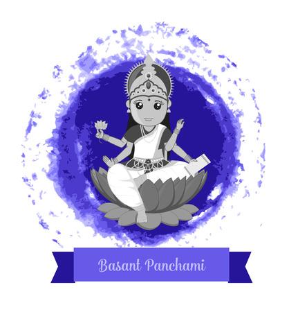 saraswati: Happy Basant Panchami - Goddess Saraswati Illustration
