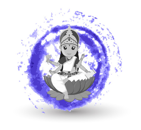 saraswati: Illustration of Goddess Saraswati