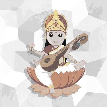 saraswati: Indian Goddess of Music - Maa Saraswati
