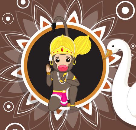 ramayan: Jai Hanuman - Hindu God of Strength Illustration