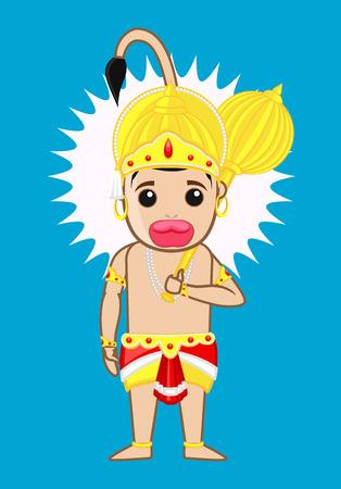 ramayan: Mahabali Hanuman - Indian God Illustration