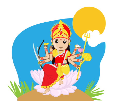 saraswati: Indian Goddess - Durga Mata