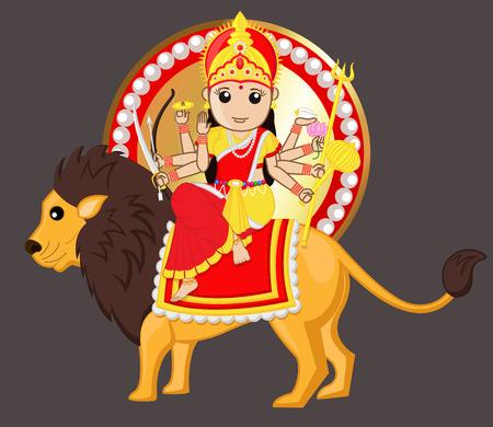 durga: Durga Mata Riding Lion