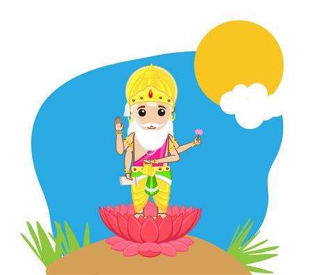 hindu god: Dios hind� - Se�or Brahma