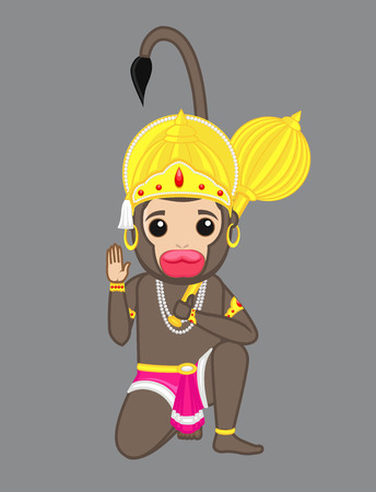 indian god: Indian God of Power - Lord Hanuman