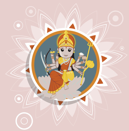 saraswati: Illustration of Santoshi Mata