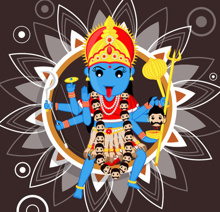 kali: Indian deity - Maa Kali Illustration