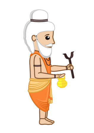 acharya: Old Cartoon Indian Saint Character