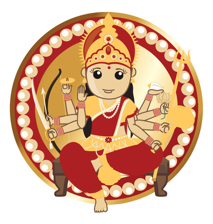 panchami: Indian Goddess - Maa Durga Illustration