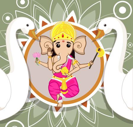puja: Ganesh Chaturthi - Lord Ganesha Illustration