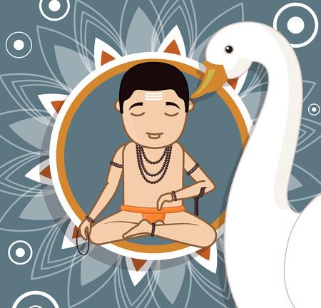 acharya: Cartoon Brahmin Character