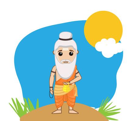 acharya: Cartoon Old Sage Character