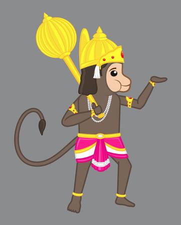 ramayan: Anjaniputra Hanuman - An indian Hindu God Illustration