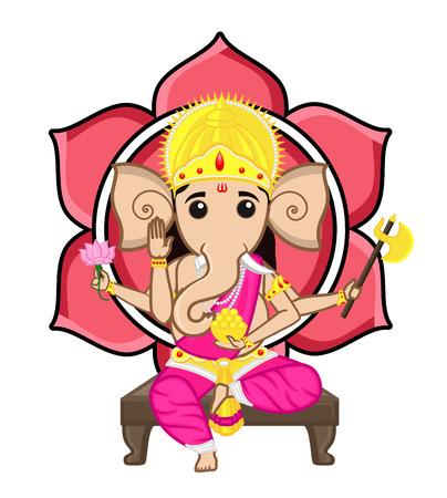 hindu god: Dios hind� - Ganesha Vectores
