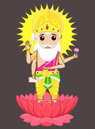 hindu god: Dios hind� Brahma - Padre de manu