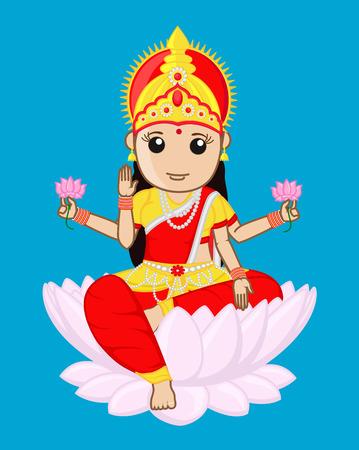 saraswati: Indian Goddess of Wealth - Maa Laxmi