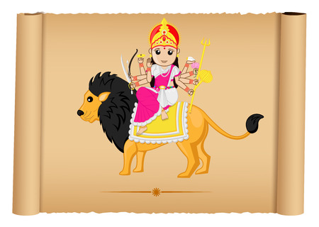 hindu goddess: Hindu Goddess Maa Durga Illustration