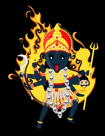 hindu goddess: Goddess of Time, Change, Power and Destruction - Maa Kali