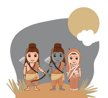 hindu god: Se�or Rama, Sita y Lakshman - dios hind�