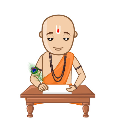 Saint Tulsidas Vector Illustration Illustration