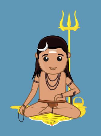 acharya: Gorakh Naath Vector Illustration Illustration