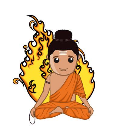 acharya: Gorakh Naath - Indian God Illustration