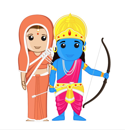 sita: Sita and Ram - Indian Goddess