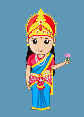 bharat: Bharat Mata - Indian Goddess Illustration