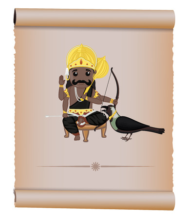 dev: Shani Maharaj - Hindu God of Death Illustration