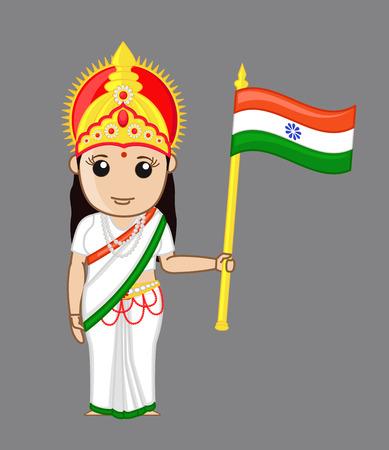 devi: Bharat Mata - Patriotic Concept Illustration