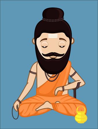 acharya: Maharishi Vishvamitra Concentrating