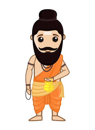 ashram: Maharishi Vishvamitra - Indian Saint Character Illustration