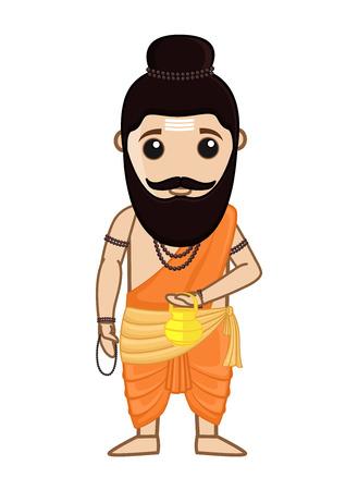 Maharishi Vishvamitra - Indian Saint Character Illustration