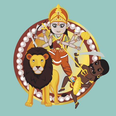 durga: Mythology Indian Goddess  Durga Mata Illustration