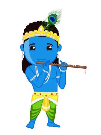 shri: Shri Krishna Janmashtami - Indian Mythology God Illustration