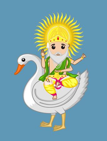 acharya: Vishwakarma - Indian God of Work Illustration